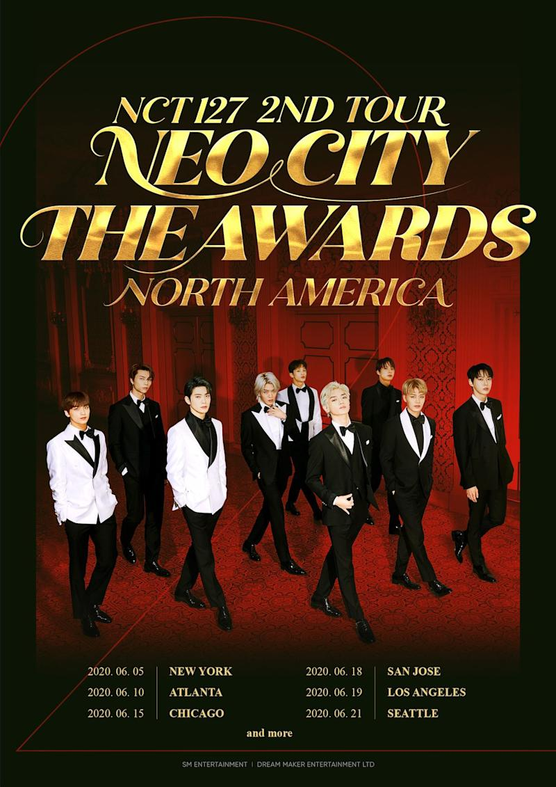 nct127 tour dates tickets poster NCT 127 Announce North American Arena Tour