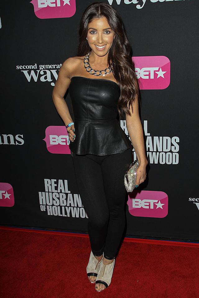 "Melissa Molinaro  arrives at the screenings of BET Networks' ""Real Husbands of Hollywood"" and ""Second Generation Wayans"" held at the Regal Cinemas L.A. Live on January 8, 2013 in Los Angeles, California."