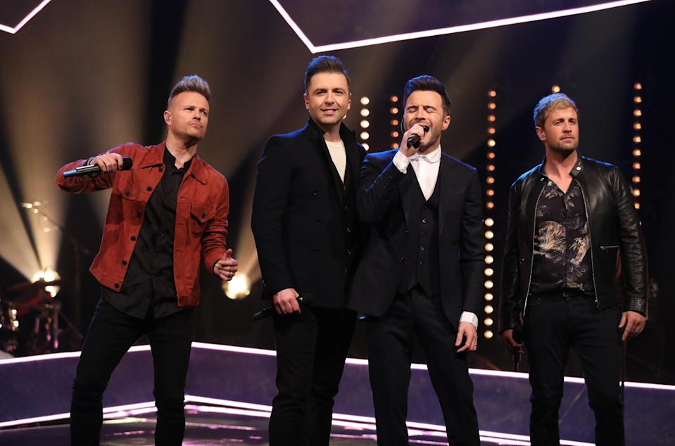 Westlife members (left to right) Nicky Byrne, Markus Feehily, Shane Filan and Kian Egan. (Photo: PA Images via Getty Images)