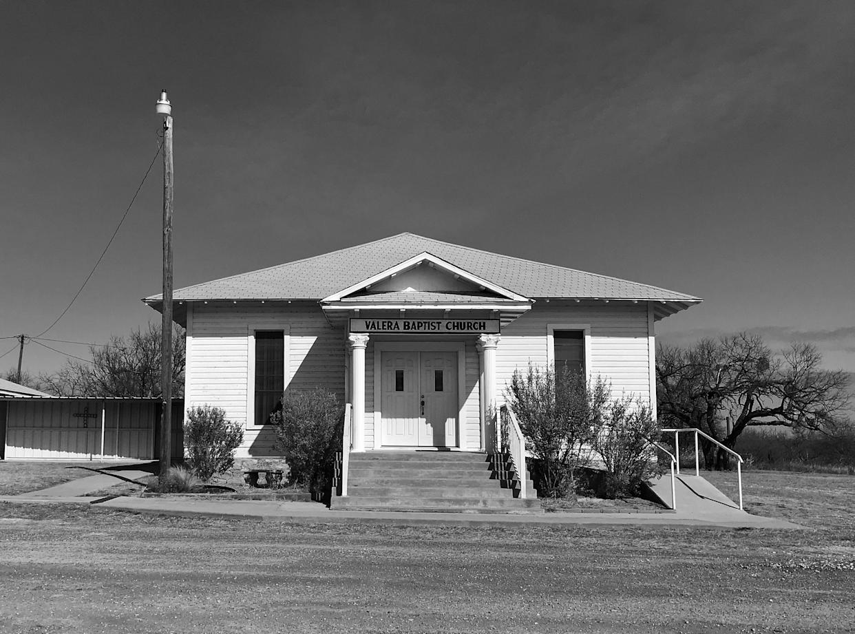 Valera Baptist Church, in remote West Texas, reconsidered its security plan after the Sutherland Springs shooting. (Photo: Holly Bailey/Yahoo News)