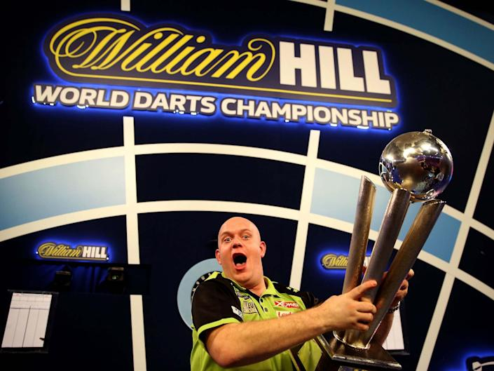 Michael van Gerwen is looking to win the World Darts Championship for the fourth time: PA