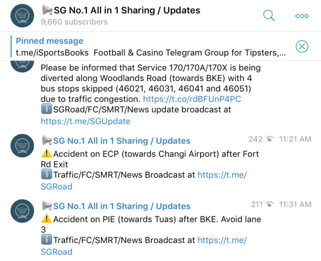 SG No.1 All in 1 Sharing/Updates