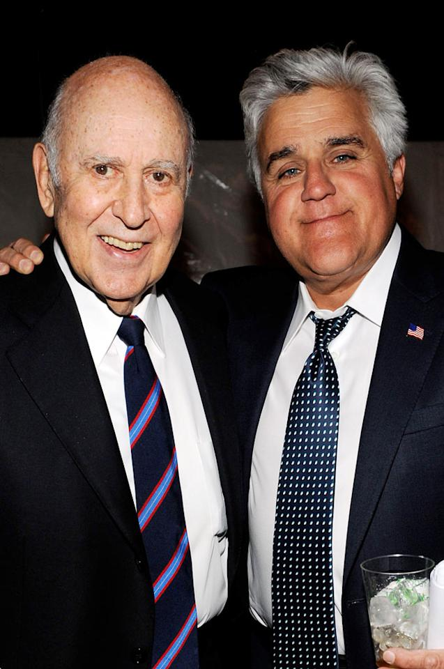 """Carl Reiner and Jay Leno at the <a href=""""/the-8th-annual-tv-land-awards/show/46258"""">8th Annual TV Land Awards</a> at Sony Studios on April 17, 2010 in Los Angeles, California. The show is set to air Sunday, 4/25 at 9pm on TV Land."""