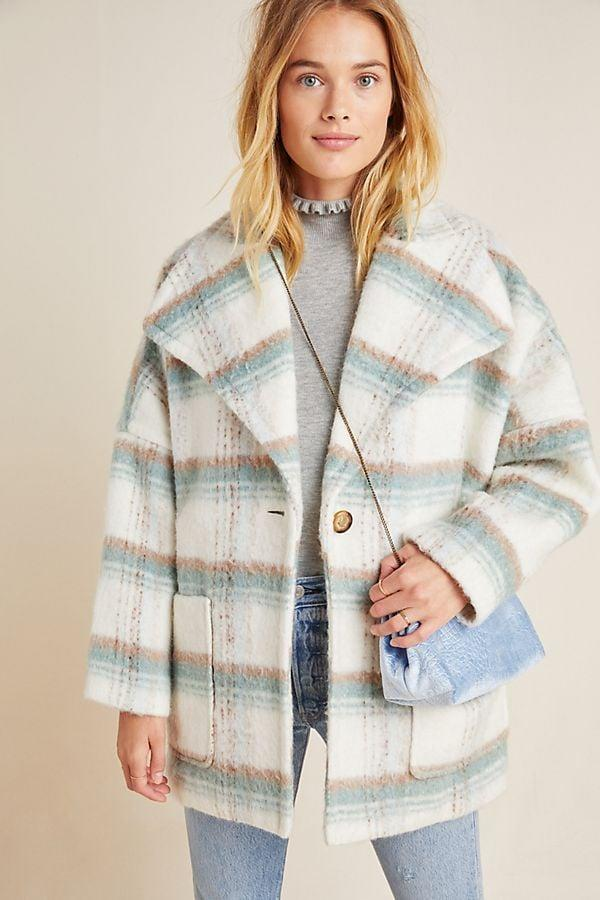 "<p><a href=""https://www.popsugar.com/buy/Elsa-Plaid-Coat-535984?p_name=Elsa%20Plaid%20Coat&retailer=anthropologie.com&pid=535984&price=84&evar1=fab%3Aus&evar9=47053943&evar98=https%3A%2F%2Fwww.popsugar.com%2Fphoto-gallery%2F47053943%2Fimage%2F47053960%2FElsa-Plaid-Coat&list1=shopping%2Canthropologie%2Csale%2Csale%20shopping&prop13=api&pdata=1"" rel=""nofollow"" data-shoppable-link=""1"" target=""_blank"" class=""ga-track"" data-ga-category=""Related"" data-ga-label=""https://www.anthropologie.com/shop/elsa-plaid-coat?category=sale-all&amp;color=014&amp;type=STANDARD"" data-ga-action=""In-Line Links"">Elsa Plaid Coat</a> ($84, originally $248)</p>"