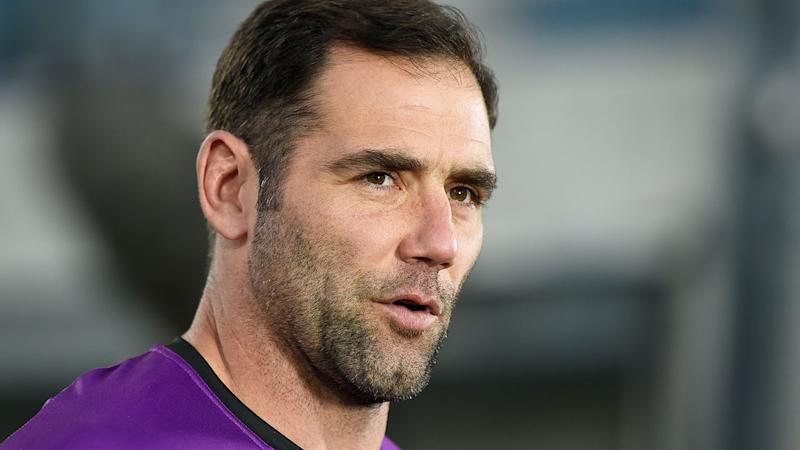 Pictured here, veteran Melbourne Storm captain Cam Smith.