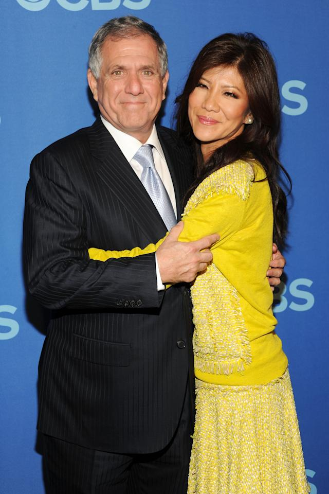 NEW YORK, NY - MAY 15:  President & CEO of CBS Corp. Les Moonves and Julie Chen attend CBS 2013 Upfront Presentation at The Tent at Lincoln Center on May 15, 2013 in New York City.  (Photo by Ben Gabbe/Getty Images)