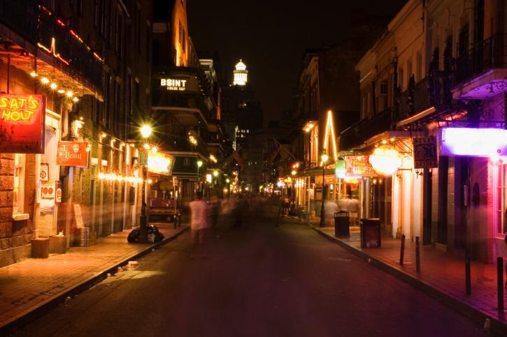 Bourbon Street, New Orleans, USA<br><br>Overflowing with oomph, the French Quarter of New Orleans has a characteristic allure that smacks you in the face. Rue Bourbon, a historic street and the spine of the district, is the cultural hub of New Orleans. Bars, restaurants and strip clubs, as well as gay nightclubs, line the length of the street. Sandwiched among them are souvenir shops and eateries selling delicious local cuisine. In the daytime, Bourbon Street is sleepy but as night falls, it turns into a whole new animal. Just a tip: while this may be a great place to get drunk, get away to somewhere more romantic if you're serious about love.