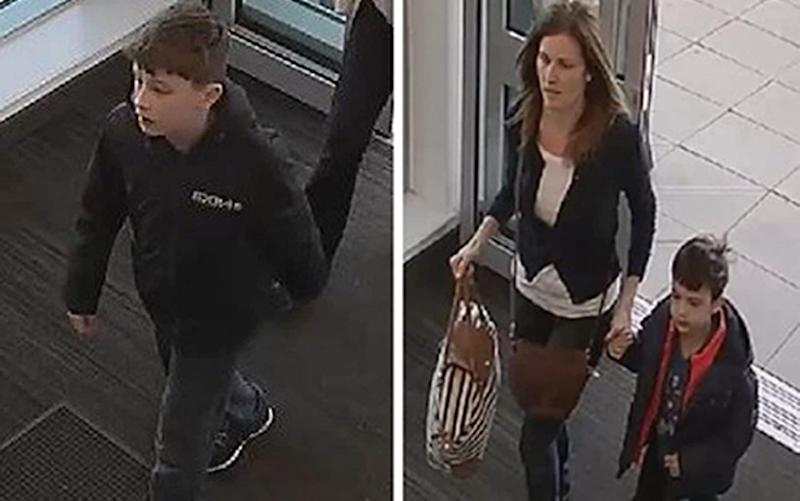 Samantha Baldwin went missing with her two young sons, Dylan and Louis, pictured in CCTV footage - PA