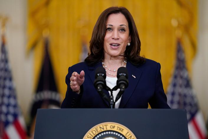 California Recall Harris (Copyright 2021 The Associated Press. All rights reserved)