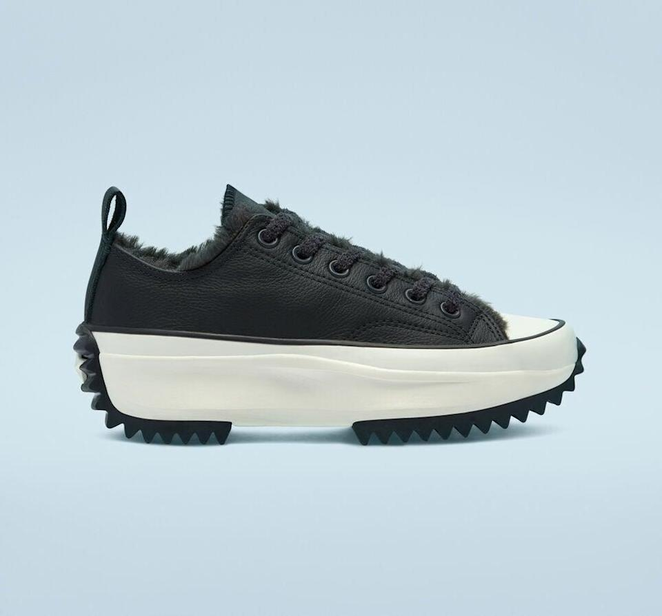 "<strong>— PAID —</strong><br><br>The classic Chuck will always be a fashion-girl favorite, but for Winter 2020, it gets a stylish update with an insulated faux-fur lining and premium leather in shades that'll go with everything in your closet.<br><br><strong>Converse</strong> Cozy Club Run Star Hike, $, available at <a href=""https://go.skimresources.com/?id=30283X879131&url=https%3A%2F%2Fwww.converse.com%2Fshop%2Fp%2Fcozy-club-run-star-hike-unisex-low-top-shoe%2F169551MP.html"" rel=""nofollow noopener"" target=""_blank"" data-ylk=""slk:Converse"" class=""link rapid-noclick-resp"">Converse</a>"