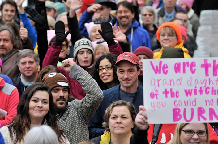 <p>At the first station of the Red Line metro, in Shady Grove, Md., thousands try to reach the Womens March on Washington, held a day after the inauguration of Donald Trump, on Jan. 21, 2017. (Bastiaan Slabbers/NurPhoto via Getty Images) </p>