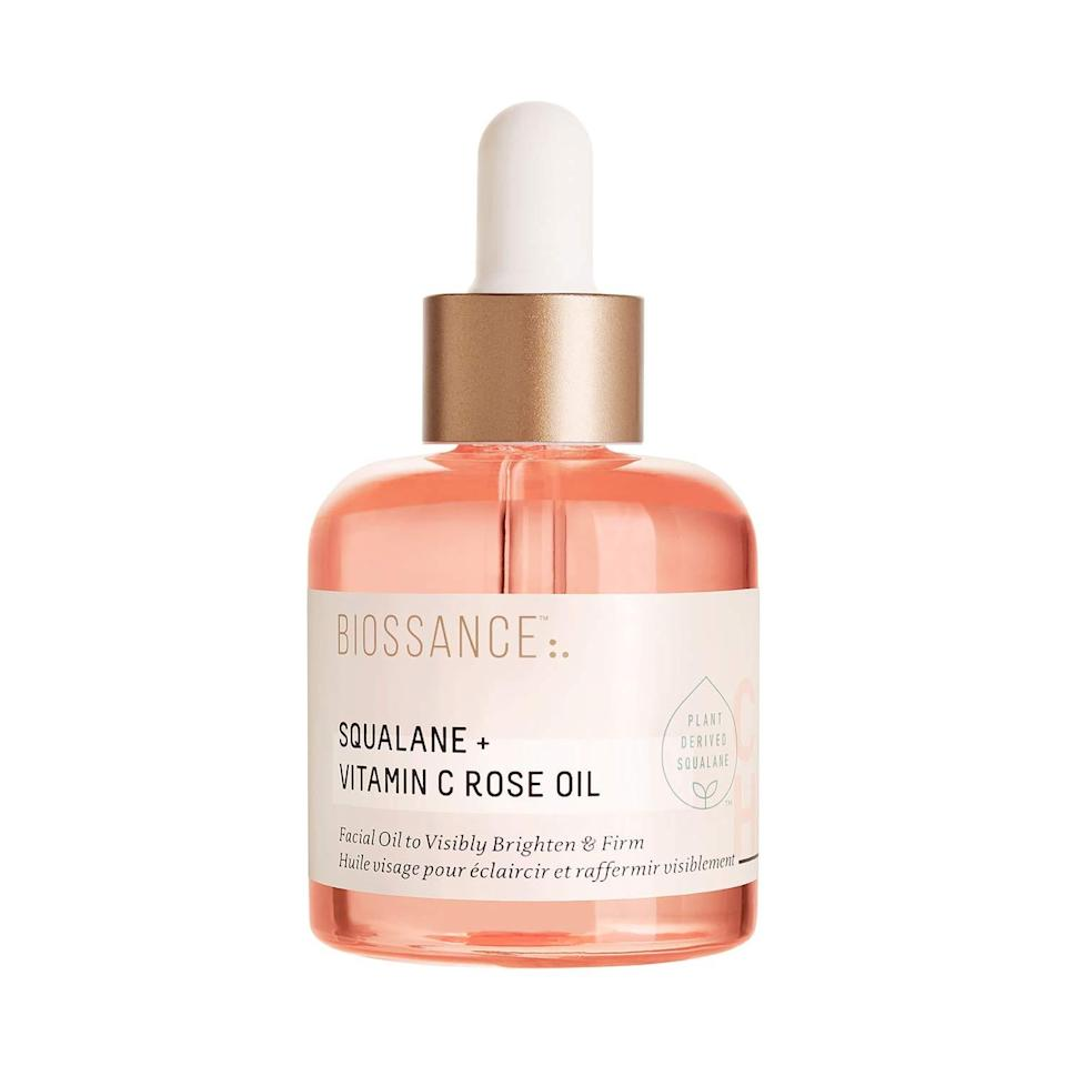 """The Squalane + Vitamin C Rose Oil — an <a href=""""https://www.allure.com/review/biossance-squalane-vitamin-c-rose-face-oil?mbid=synd_yahoo_rss"""" rel=""""nofollow noopener"""" target=""""_blank"""" data-ylk=""""slk:editor-loved facial oil from Biossance"""" class=""""link rapid-noclick-resp"""">editor-loved facial oil from Biossance</a> — nourishes skin like a dream, thanks to a beyond-luxurious base of rose-infused squalane. With continued use, the luxe oil promotes an even tone and gives skin a smooth, renewed appearance. $72, Sephora. <a href=""""https://shop-links.co/1735587684188540853"""" rel=""""nofollow noopener"""" target=""""_blank"""" data-ylk=""""slk:Get it now!"""" class=""""link rapid-noclick-resp"""">Get it now!</a>"""