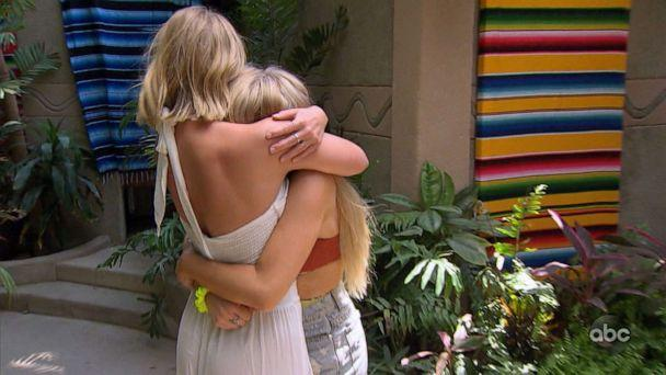 PHOTO: Demi Burnett, right, is reunited with her girl friend on 'Bachelor in Paradise.' (ABC News)