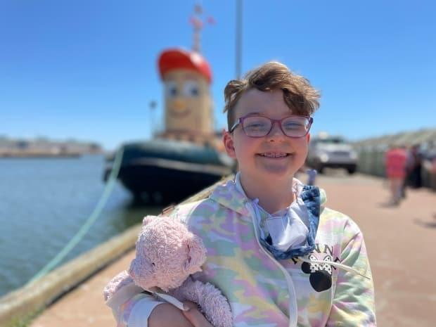 Ten-year-old Ray Cullen says he's been a fan of Theodore ever since he was 'little.' (Tony Davis/CBC - image credit)