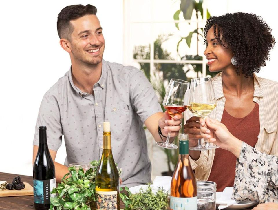 """Here's how <a href=""""https://fave.co/38I8tRk"""" target=""""_blank"""" rel=""""noopener noreferrer"""">Bright Cellars</a> works: You take apalate quiz to figure out your likes and dislikes when it comes to wine, then the brand recommends four new wines to try every month. The <a href=""""https://fave.co/38I8tRk"""" target=""""_blank"""" rel=""""noopener noreferrer"""">membership</a> is $80 a month.<br /><br />Check out <a href=""""https://fave.co/38I8tRk"""" target=""""_blank"""" rel=""""noopener noreferrer"""">Bright Cellars' subscription service</a>."""