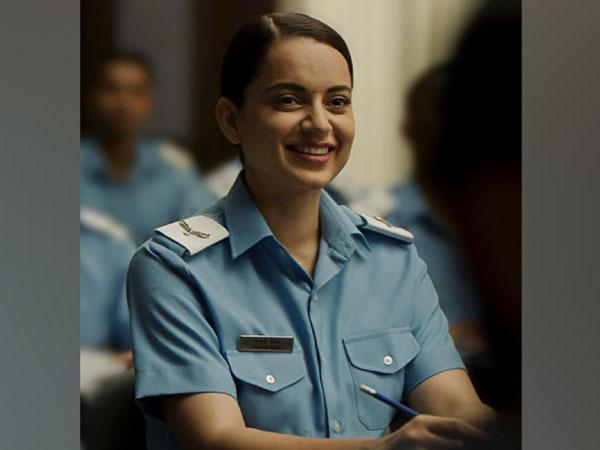 Kangana Ranaut's new look from 'Tejas' (Image Source: Twitter)