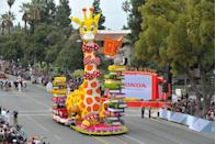 <p>Hours after the ball has dropped (another iconic US tradition), and the hangovers start to kick in, the New Year's Day Rose Parade kicks off in Pasadena, California. The colorful floral celebration precedes the Rose Bowl college football game. The parade has been an annual tradition since 1890.</p>