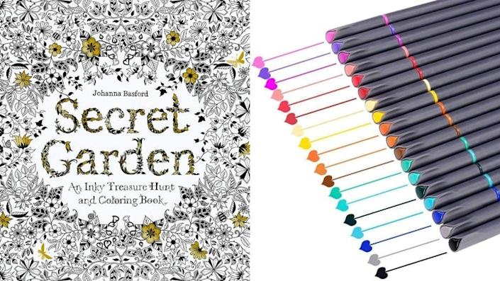 Pick up your favorite markers and spend time with the Secret Garden: An Inky Treasure Hunt and Coloring Book.