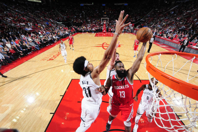 James Harden had a big night, but the Nets earned the win. (Getty)