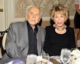 <p>Douglas and Buydens attend the Los Angeles Mission's Legacy of Vision Gala in Beverly Hills. Douglas has been a humanitarian for decades and was awarded the Presidential Medal of Freedom, the Jefferson Award, and the French Chevalier of the Legion of Honor for his efforts. </p>