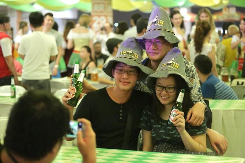 Oktoberfest 2018, held in Mid Valley and which began yesterday, was given the green light by the Kuala Lumpur City Council. — Picture by Choo Choy May