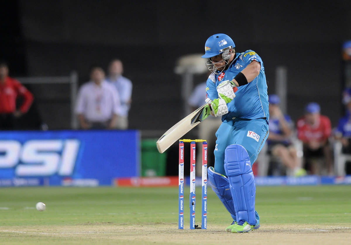 Aaron Finch of Pune Warriors bats during match 13 of the Pepsi Indian Premier League (IPL) 2013  between The Pune Warriors India and the Rajasthan Royals held at the Subrata Roy Sahara Stadium, Pune on the 11th April  2013..Photo by Pal Pillai-IPL-SPORTZPICS ..Use of this image is subject to the terms and conditions as outlined by the BCCI. These terms can be found by following this link:..https://ec.yimg.com/ec?url=http%3a%2f%2fwww.sportzpics.co.za%2fimage%2fI0000SoRagM2cIEc&t=1495765509&sig=mXt_YM0AHSqk9ikI9tr14Q--~C