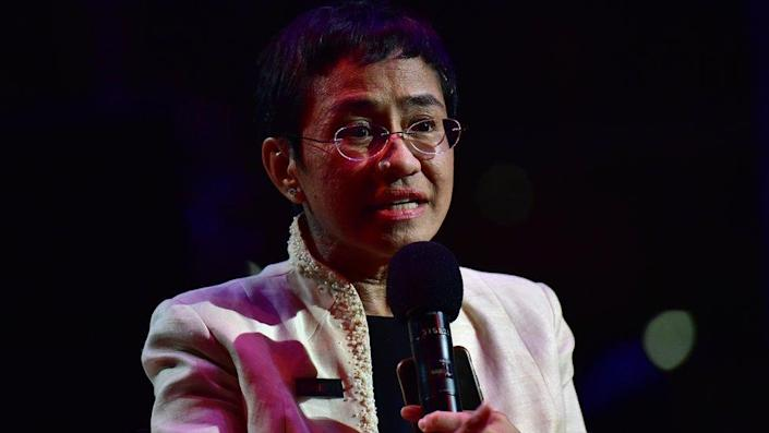 Maria Ressa speaks during the Time 100 Gala 2019 in New York City