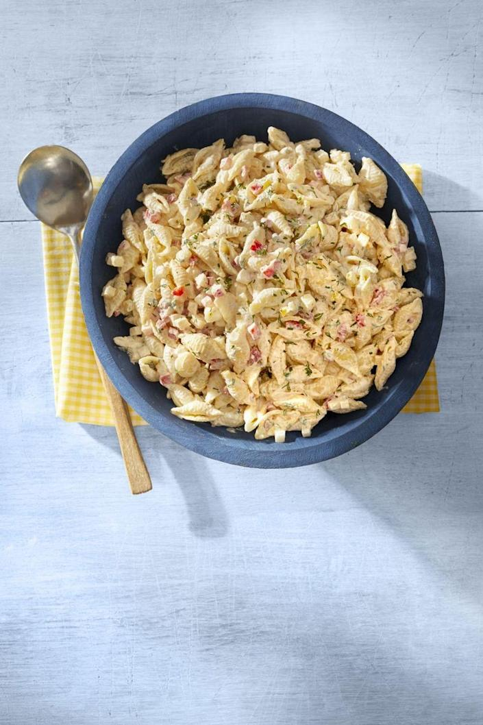 """<p>Crunchy veggies give new life to pasta salad. This one is packed with radishes, jicama, and bell peppers. </p><p><a href=""""https://www.thepioneerwoman.com/food-cooking/recipes/a32348241/garden-pasta-salad-recipe/"""" rel=""""nofollow noopener"""" target=""""_blank"""" data-ylk=""""slk:Get Ree's recipe."""" class=""""link rapid-noclick-resp""""><strong>Get Ree's recipe.</strong></a></p><p><a class=""""link rapid-noclick-resp"""" href=""""https://go.redirectingat.com?id=74968X1596630&url=https%3A%2F%2Fwww.walmart.com%2Fsearch%2F%3Fquery%3Dmixing%2Bspoons&sref=https%3A%2F%2Fwww.thepioneerwoman.com%2Ffood-cooking%2Fmeals-menus%2Fg36353420%2Ffourth-of-july-side-dishes%2F"""" rel=""""nofollow noopener"""" target=""""_blank"""" data-ylk=""""slk:SHOP MIXING SPOONS"""">SHOP MIXING SPOONS</a><br></p>"""
