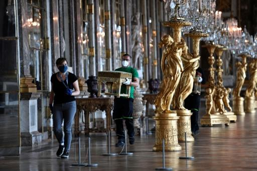 The chateau of Versailles reopened to visitors on Friday