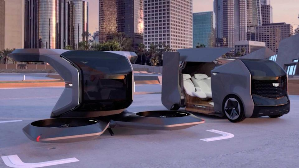 Cadillac Drone And Autonomous Vehicle