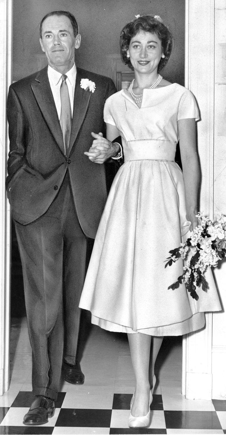 """<p>Henry Fonda was introduced to Italian baroness Afdera Franchetti while he was filming <em>War and Peace </em>in Italy. Not long after meeting, they got married in Fonda's New York apartment. <a href=""""https://www.countryliving.com/life/entertainment/a45680/henry-fonda-five-marriages/"""" rel=""""nofollow noopener"""" target=""""_blank"""" data-ylk=""""slk:Franchetti was Henry's fourth wife"""" class=""""link rapid-noclick-resp"""">Franchetti was Henry's fourth wife</a>.</p>"""