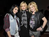 """<p>In Material Girl with <a class=""""link rapid-noclick-resp"""" href=""""https://www.popsugar.com/Madonna"""" rel=""""nofollow noopener"""" target=""""_blank"""" data-ylk=""""slk:Madonna"""">Madonna</a> and Kelly Osbourne at a Material Girl photo shoot in New York City in 2011.</p>"""