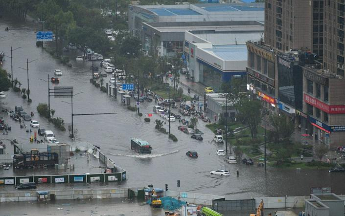 Flooding in Zhengzhou in central China's Henan province
