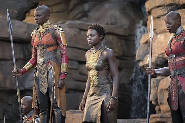 "<p>Before Lupita Nyong'o could head to Wakanda, she had to build up some serious muscle. To do so, the <em>Black Panther </em>star endured a grueling six-week bootcamp. ""It started off four hours a day, then it was reduced to two when I started bulking up — I remember coming home for Christmas and I couldn't fit into my clothes,"" Nyong'o told <em><a href=""https://www.hollywoodreporter.com/features/lupita-nyongo-political-exile-oscar-marvels-black-panther-1077849"" rel=""nofollow noopener"" target=""_blank"" data-ylk=""slk:The Hollywood Reporter"" class=""link rapid-noclick-resp"">The Hollywood Reporter</a>.</em></p>"