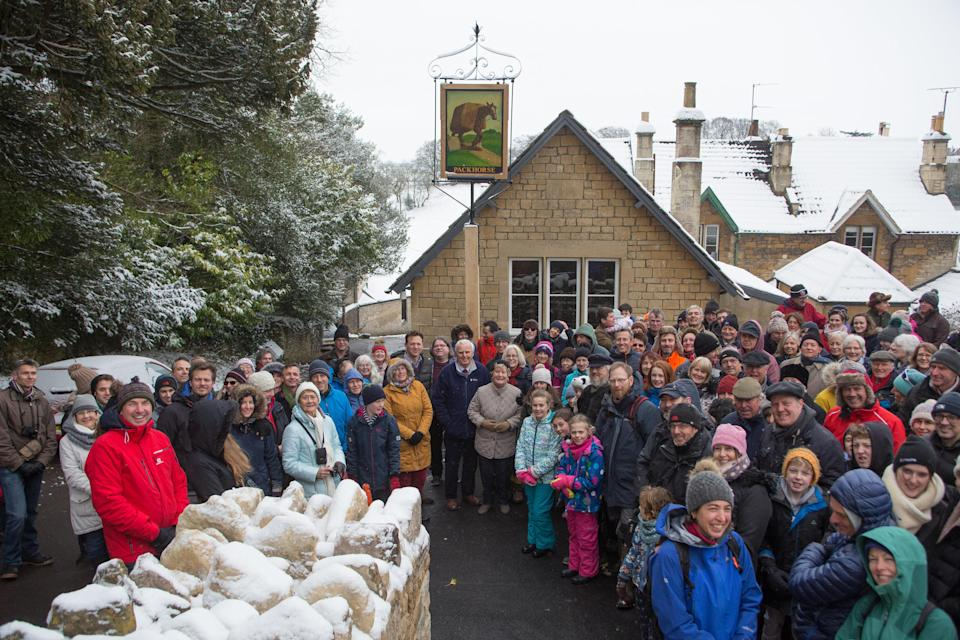 Villagers are celebrating are saving their local pub from developers (SWNS.com)