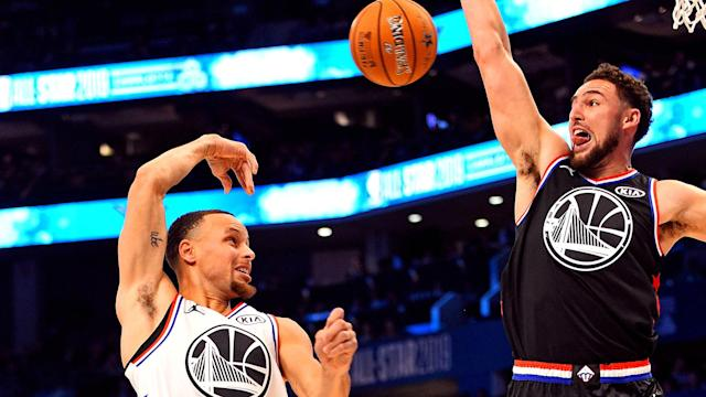 Steph Curry and Klay Thompson each had chances to defend the other during the NBA All-Star Game. It went much better for one of them than the other.