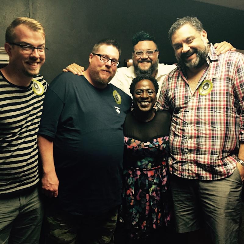 The last time Nakia saw Sharon in person, backstage at Austin360 Amphitheater. July 2015. Photo credit: Nakia