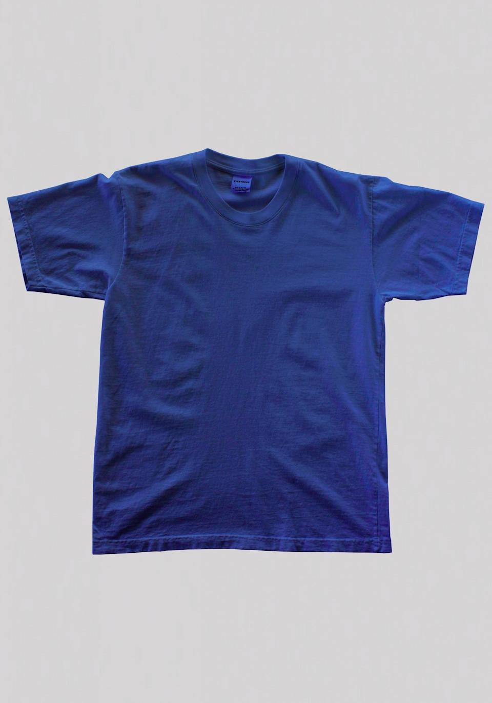 """<p>This classic tee made from 100% recycled cotton, $25. Available on <a href=""""https://everybody.world/product/classic-trash-tee/"""" rel=""""nofollow noopener"""" target=""""_blank"""" data-ylk=""""slk:Everybody.world"""" class=""""link rapid-noclick-resp"""">Everybody.world</a> </p>"""