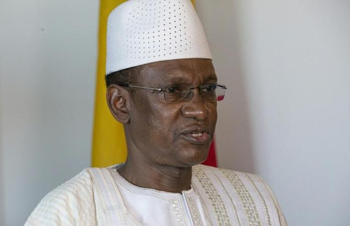 Mali's Prime Minister Choguel Maiga attends an interview with AFP on September 26, 2021 in New York (AFP/KENA BETANCUR)