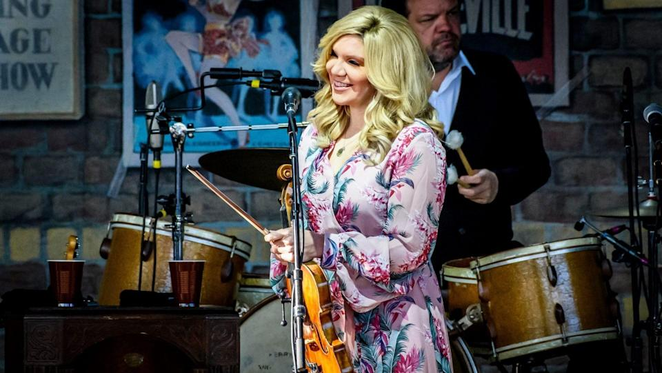 Mandatory Credit: Photo by Angel Marchini/Shutterstock (10319372m)American bluegrass-country singer, Alison Krauss, performed a sold out show in Toronto.