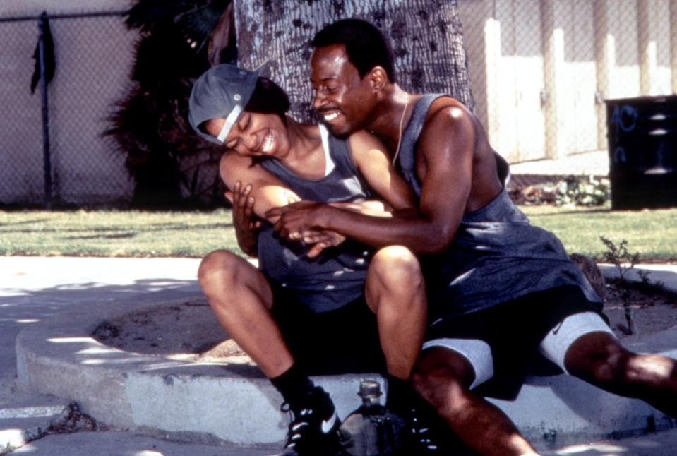 """<p>A thrilling romance movie that explores how fast love can turn into hate (and vice versa), <strong>A Thin Line Between Love and Hate</strong> depicts betrayal and sweet revenge. Darnell (Martin Lawrence) is engaged to his childhood sweetheart Mia (Regina King), but is notorious for his playboy ways. When he meets Brandi (Lynn Whitfield) and sleeps with her, he tries to get away scot-free and go back to Mia – but Brandi isn't about to allow that to happen.</p> <p>Watch <a href=""""https://play.hbomax.com/page/urn:hbo:page:GXoO9oAQslY-5nAEAAABm:type:feature"""" class=""""link rapid-noclick-resp"""" rel=""""nofollow noopener"""" target=""""_blank"""" data-ylk=""""slk:A Thin Line Between Love and Hate""""><strong>A Thin Line Between Love and Hate</strong></a> on HBO Max now.</p>"""