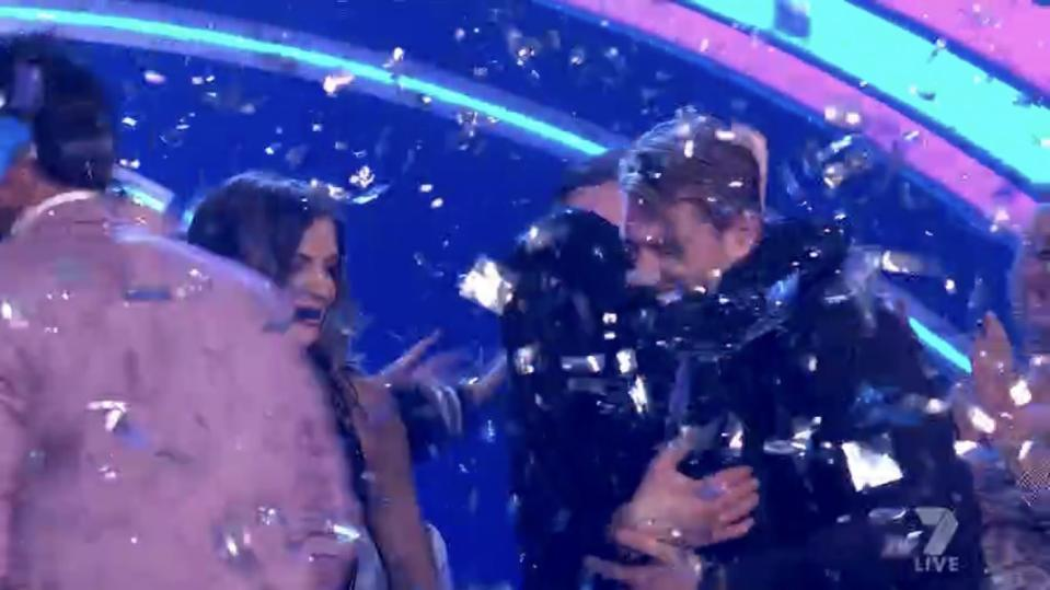 The Big Brother 2020 grand finale left fans outraged over a 'social distancing fail'. Photo: Channel 7.