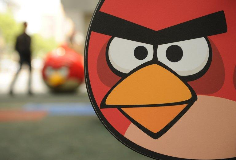 A visitor walks through Shanghai's first Angry Birds Activity Park in Shanghai on October 31, 2012