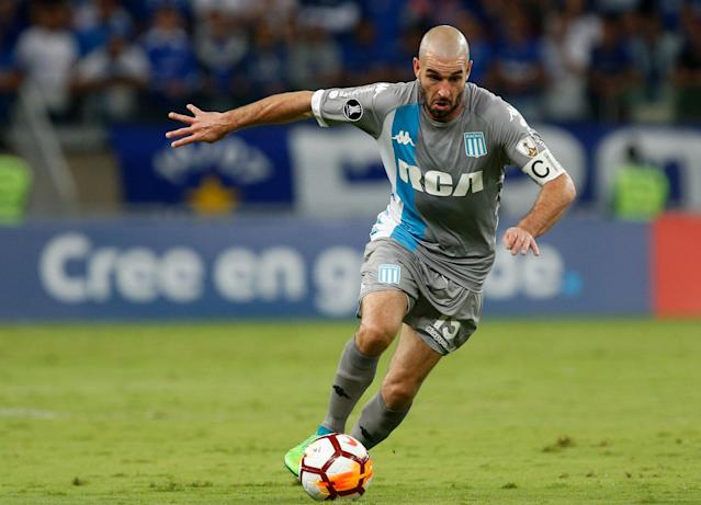 Soccer Football - Copa Libertadores - Brazil's Cruzeiro v Argentina's Racing Club - Mineirao stadium, Belo Horizonte, Brazil - May 22, 2018 - Lisandro Lopez of Racing Club in action. REUTERS/Cristiane Mattos
