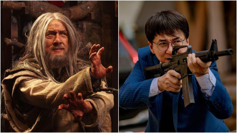 Jackie Chan in Iron Mask (Photo: Gravitas Ventures) and Vanguard (Photo: Lionsgate)