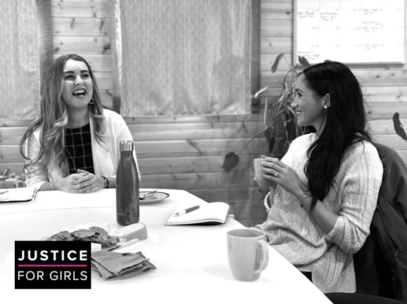 Meghan Markle visits Justice for Girls | Justice For Girls Twitter
