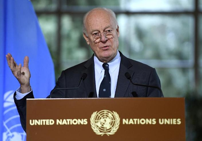 UN Syria envoy Staffan de Mistura will attend the peace talks in Astana (AFP Photo/PHILIPPE DESMAZES)