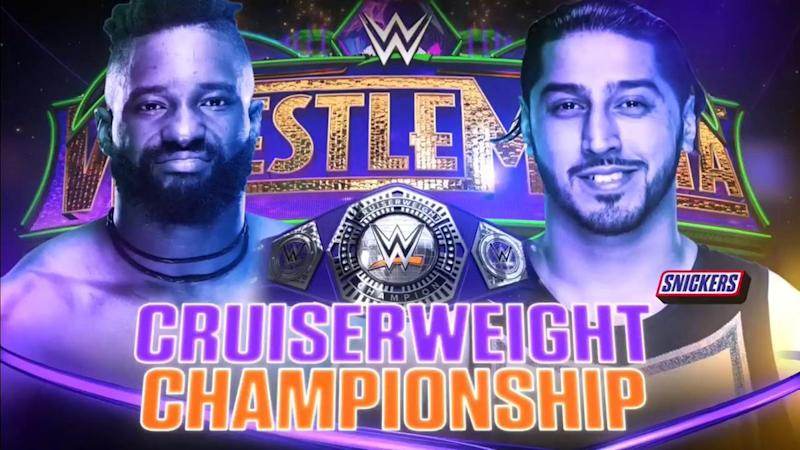 Image result for wrestlemania 34 cruiserweight championship
