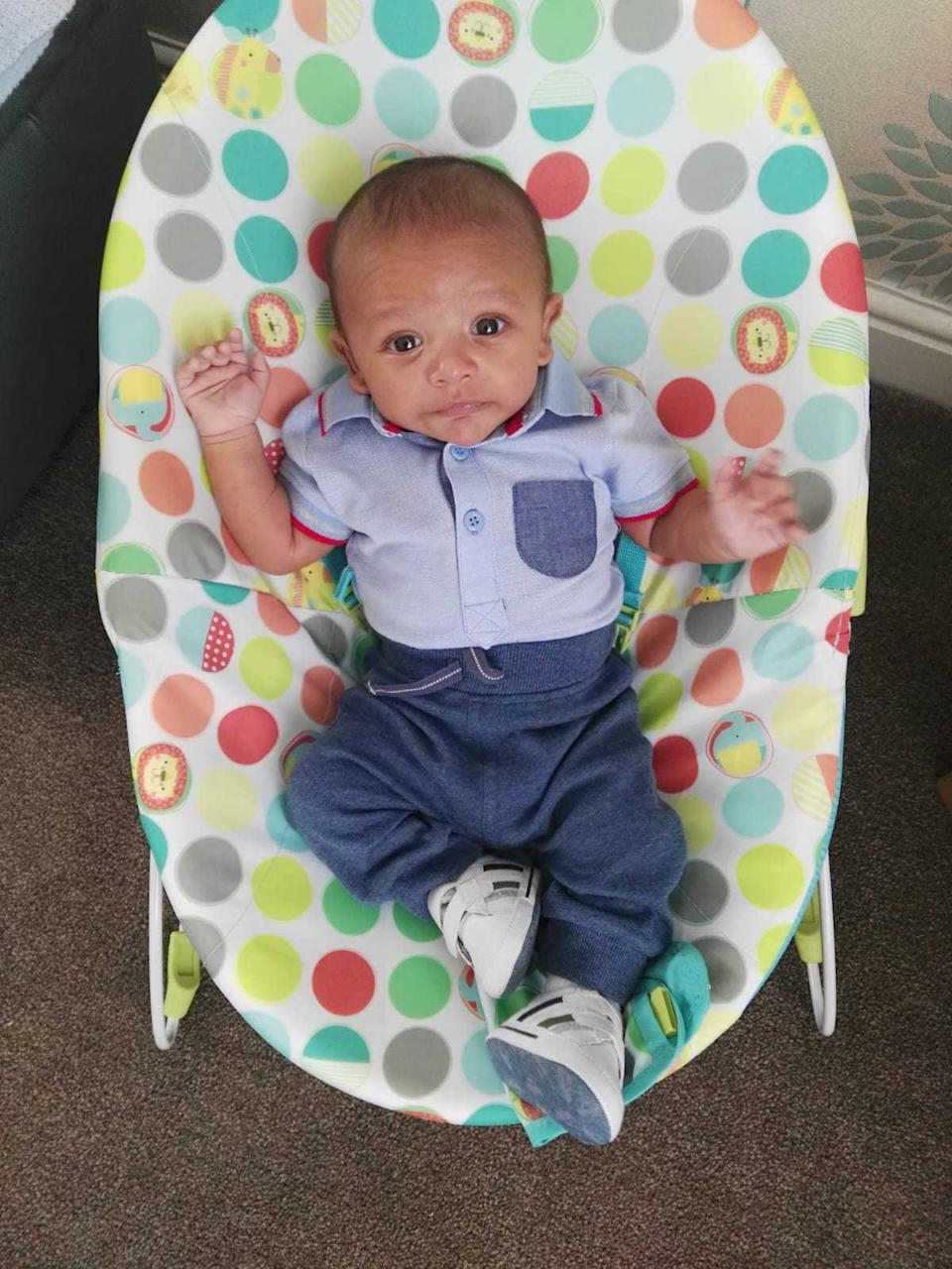 """Mohammad Aldmour was described as a """"beautiful lovely little baby"""" (Picture: MEN)"""