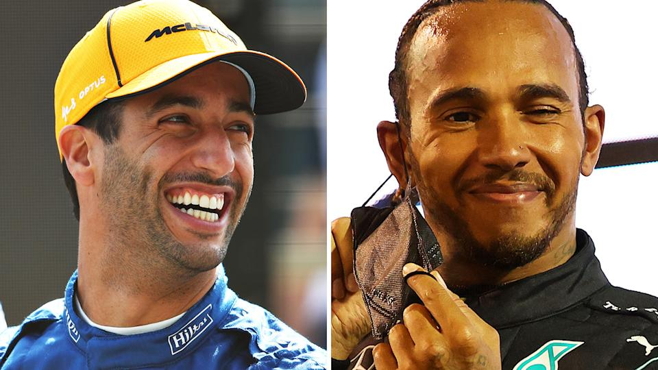 Aussie F1 star Daniel Ricciardo says many drivers would be capable of taking Lewis Hamilton's dominant Mercedes car to victory - but few could manage the consistency of the British superstar. Pictures: Getty Images